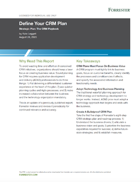 1.4.20Forrester Define Your CRM Plan Thumbnail