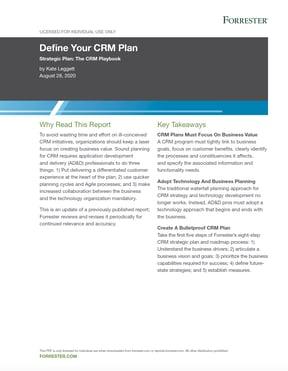1.4.20Forrester Define Your CRM Plan Thumbnail