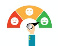 Image of sad, neutral, happy customer meter