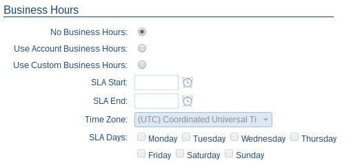 SLA Business Hours